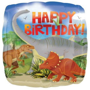 Dinosaur Prehistoric Party Happy Birthday Balloon
